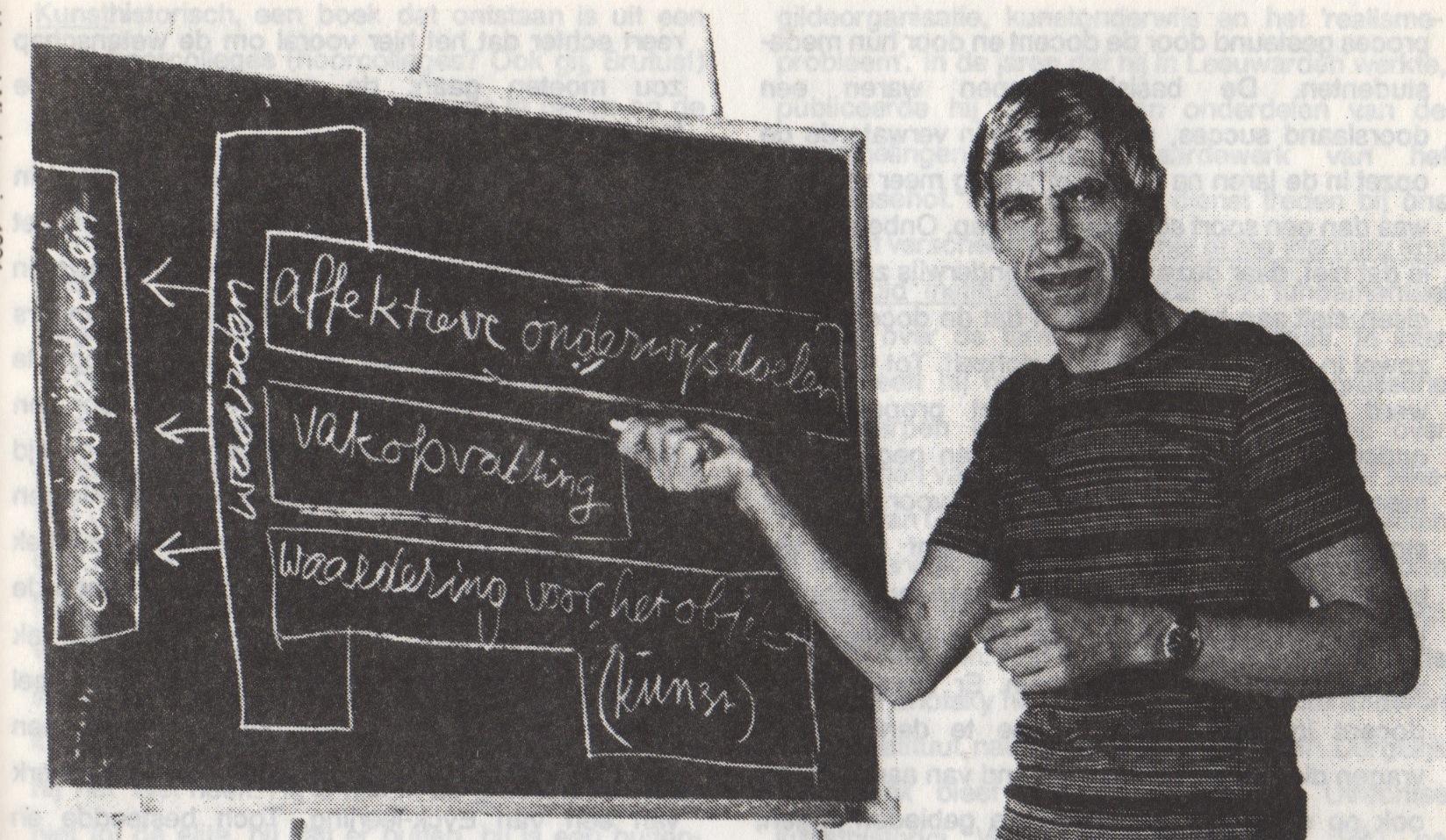 Hessel Miedema schoolbord